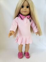 """DOLL CLOTHES - PINK PLEATED DRESS - FITS  AMERICAN GIRL AND MOST 18"""" DOLLS"""