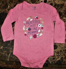 "NEW"" Baby Gap BEAUTIFUL MOMMY ~ Infant CREEPER BODYSUIT ~ Toddler 12M 18M Rose"