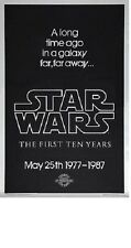 Original KILIAN STAR WARS 10th Anniversary SILVER MYLAR 1 sheet