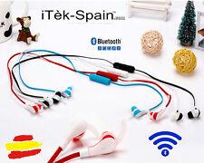 Auricular Bluetooth 4.0 Headset  Manos Libres  Microfono rojo auriculares cascos