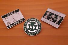 More details for celtic treble winners 2016-2017 pin badge set gift