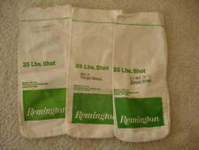 (3) Vintage Remington Lead Shot 25 lbs. Canvas Bag ~ Made in Usa
