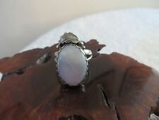 STERLING SILVER FEATHER MABE PEARL RING SIZE 7 1/2 *NWOT*