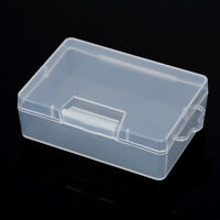 Clear Plastic Storage Jewelry Box Business Card Container Holder Case Organizer.