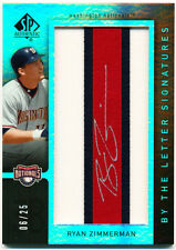 /25~JSY~AU~RYAN ZIMMERMAN 2007 SP Authentic By the Letter_AUTO JERSEY CARD~07~AS