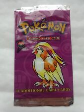 RARE ORIGINAL 1998 POKEMON BASE 2 SET PIDGEOTTO ARTWORK EMPTY BOOSTER CARDS PACK