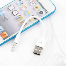 Portable 3.5mm USB Charger Sync Data Cable for iPod Shuffle 3rd 4th 5th 6th 7Gen