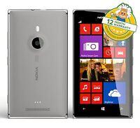 Nokia Lumia 925 Windows 8 Unlocked Grey 4G Smartphone 1.5GHz 8.7MP 16GB GRADE B