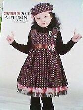 Girls Kids Children Princess Warm Wool Vest dress with Beanie Hat Set 2-3yrs