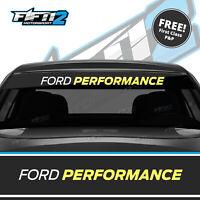Ford Fiesta Sunstrip ST Ford Performance Zetec  Sun Strip Decal FREE P&P Yellow
