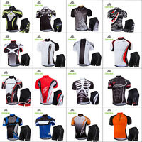 Men's Sport Team Cycling Jersey Sets Bike Bicycle Bib Top Short Sleeve Clothing