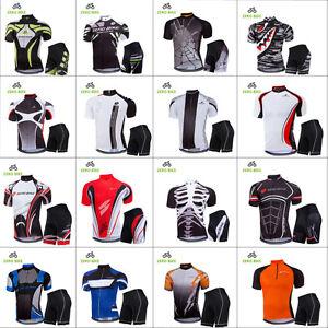 Men's Sport Team Cycling Jersey Sets Bike Bicycle Bib Top Short Sleeve Clothing