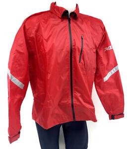 XLC Men's Rain Cycling Jacket, Red, Medium