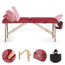 Massagetisch Massagebank Massageliege Massage Therapie Klappbar Mobil Rot 200Kg