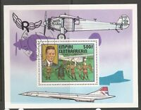 Central African Republic SC # 302 History Of Aviation . Souvenir Sheet .MNH