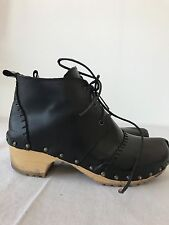 Local Black Clog Boots Like No. 6, Swedish Hasbeens