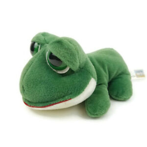 "Animal Alley Toys R Us Frog 7"" Plush Green Large Eyes Stuffed Animal Toy 2000"