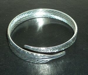 Cuff Bracelet Sterling Silver .925 With Drawstring Pouch NEW #005