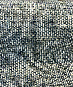 Manhattan Aqua Blue Teal Tweed Chenille Upholstery Fabric By The Yard