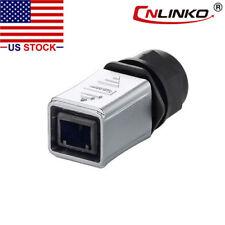 CNLINKO Ethernet Industrial Connector RJ45 Male Plug Waterproof IP67 Metal Case