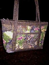 KOMODO DRAGON Chinese Lotus Flower HANDMADE Tote Handbag + Match COIN PURSE Set