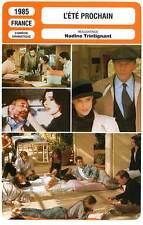 FICHE CINEMA : L'ETE PROCHAIN Noiret,Cardinale,Ardant,Trintignant1985Next Summer