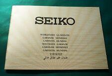 Seiko orologio Garanzia Internazionale Vintage Originale Unwritten Guarantee