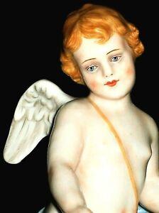 ANTIQUE ITALY GINORI DRESDEN STYLE CHERUB CUPID ANGEL DOLL PORCELAIN FIGURINE