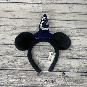 Disney Park Mickey Mouse Fantasia Sorcerer Ears Headband Apprentice Magic Wizard