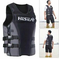 Unisex S-3XL Neoprene Life Jacket Vest for Water Rescue Surfing Boating Swimming