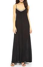 Red Carter Friendship Bracelet Gown Maxi Dress Cover Up Sz S Black (K26)