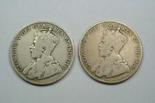 1918 & 1919 Canada 50 Cents Coins, Good/VG Condition - C1838
