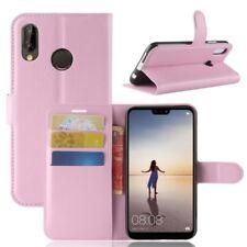 Cartera De Bolsillo PREMIUM ROSA para Huawei P20 Lite Cubierta la caja sobres