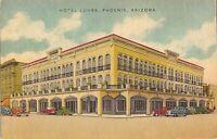 Phoenix, ARIZONA - Hotel Luhrs - LINEN - old cars, balcony