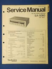 TECHNICS SA-5060 RECEIVER SERVICE MANUAL ORIGINAL FACTORY ISSUE THE REAL THING