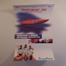Poster offshore SUNRACER 38 TEAM MARCELLO MENEGATTO LINELTEX Monaco