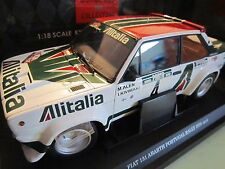"KYOSHO 1:18  FIAT 131 ABARTH  / ALITALIA -  ""   #4 WINNER PORTUGAL RALLY 1978 """
