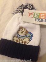 baby babies bobble bobbles hat hats navy blue boy boys winter  girl girls