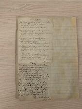 Due poesie autografe di Ada Negri e Edmondo De Amicis