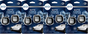 (4) New Febreze 2 Pks- Platinum Ice - 8 Auto Vent Clip Air Fresheners