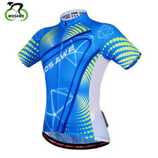 Mens Short Sleeve Cycling Jersey Breathable Quick Dry Bike Wear Anti-sweat Shirt