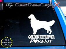 Golden Retriever PARENT(S) - Vinyl Decal Sticker / Color Choice - HIGH QUALITY