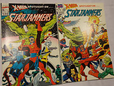 X-MEN SPOTLIGHT ON STARJAMMERS (1990) SET LOT COMPLETE #1&2 MINI-SERIES CYCLOPS