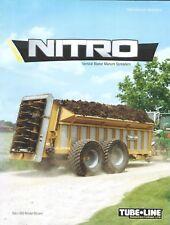 Farm Equipment Brochure - Tubeline Nitro 950 et al Manure Spreaders 2014 (F6496)