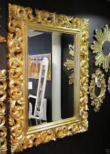 XXL Espejo de pared antiguo Rococó 120x90 BARROCO EN DORADO ESPEJO Florenza woe
