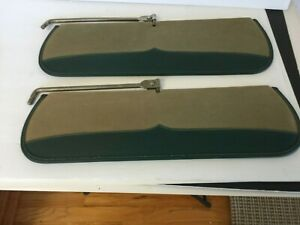 PAIR HUDSON INTERIOR SUN VISORS, NICE CLEAN ORIGINALS 1946 - 1955 CONVERTIBLE