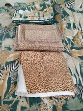 Jungle Animals Leopard Queen Reversible Comforter, Shams, Bedding Set Used