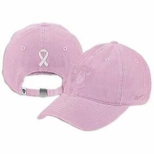 Las Vegas Raiders NFL Reebok Pink Breast Cancer Awareness Slouch Hat Cap Women's