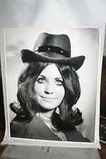 HUGE Black & White Competition Photograph Print  SUSAN FELT HAT 1970