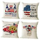 Set of 4 Patriotic Throw Pillow Covers 20x20 Inch 20*20 inch Independence 02-1